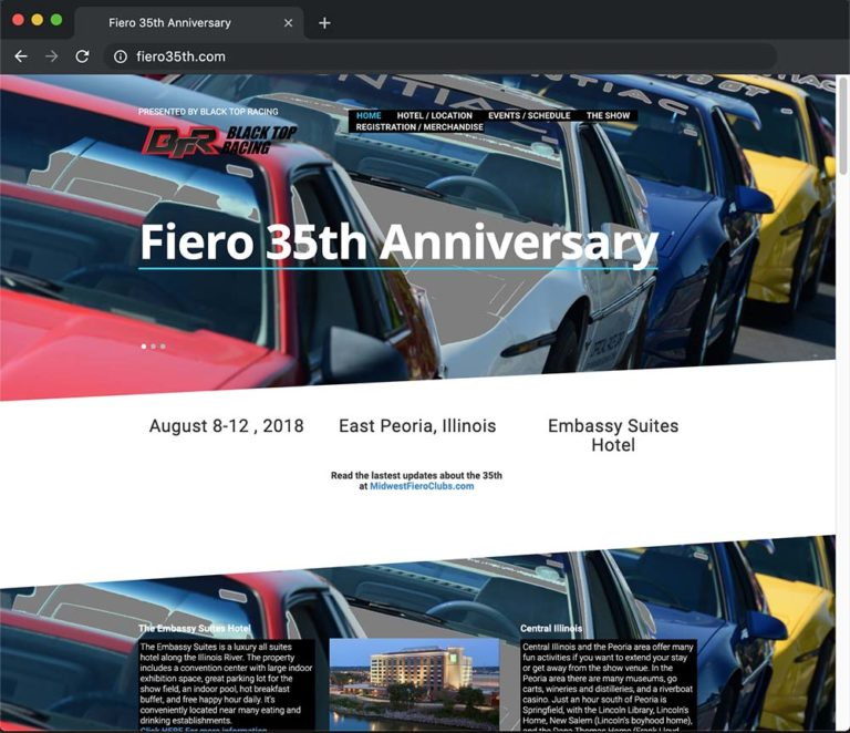 Fiero 35th Website